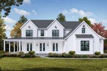Architectural House Design - Farmhouse Exterior - Front Elevation Plan #54-378