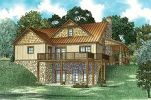 Dream House Plan - Craftsman Exterior - Rear Elevation Plan #17-3427