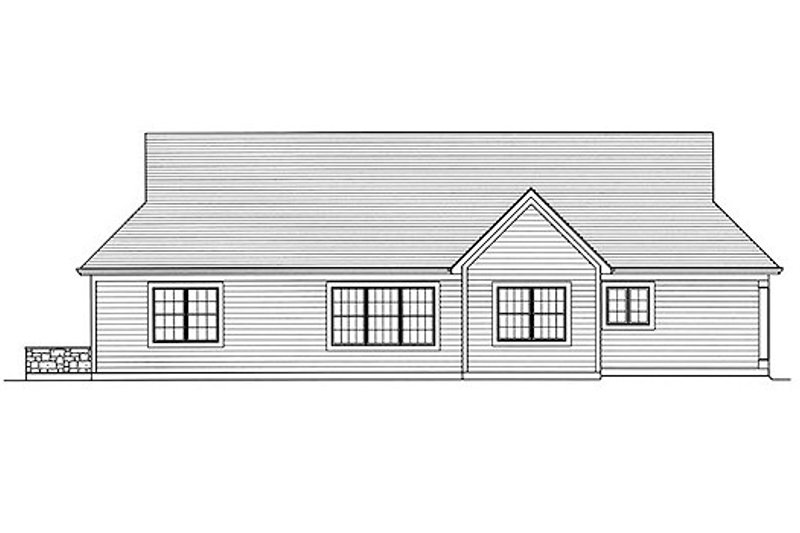 Traditional Exterior - Rear Elevation Plan #46-481 - Houseplans.com