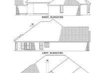 House Plan Design - Traditional Exterior - Rear Elevation Plan #17-177