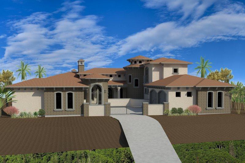 Dream House Plan - Mediterranean Exterior - Front Elevation Plan #920-66