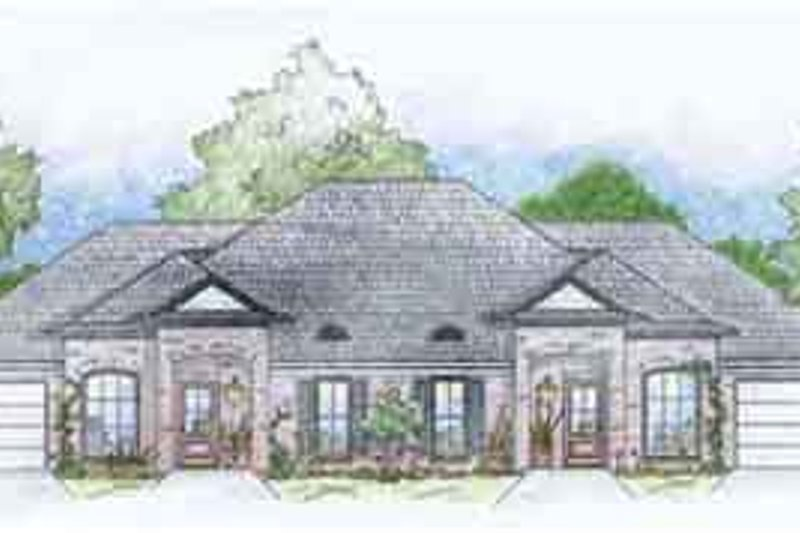 Southern Exterior - Front Elevation Plan #36-441