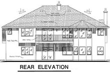 House Blueprint - European Exterior - Rear Elevation Plan #18-174