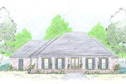 Farmhouse Style House Plan - 4 Beds 2.5 Baths 2643 Sq/Ft Plan #36-465 Exterior - Front Elevation