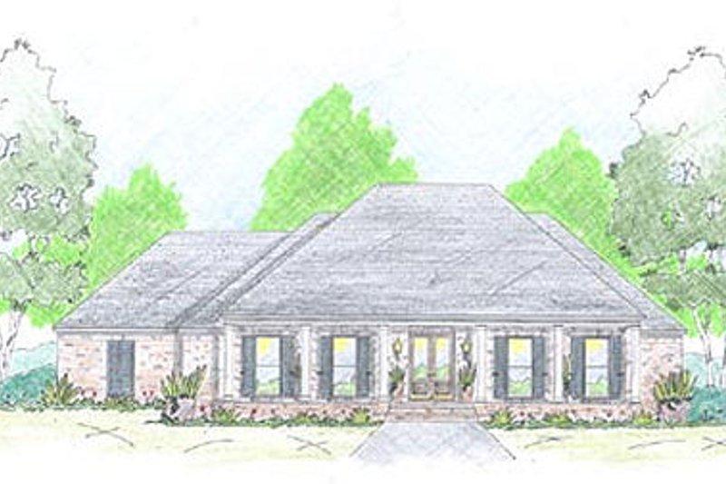 Dream House Plan - Farmhouse Exterior - Front Elevation Plan #36-465