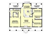 Southern Floor Plan - Main Floor Plan Plan #44-168