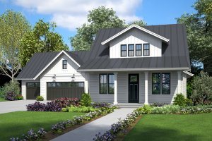 Architectural House Design - Farmhouse Exterior - Front Elevation Plan #48-995