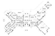 Ranch style, Craftsman detailed house plan, main level floor plan