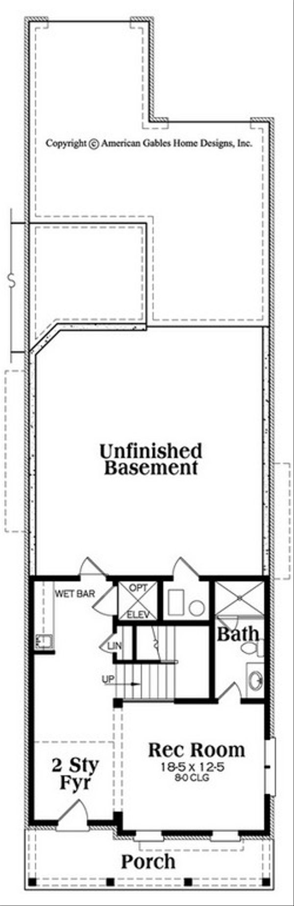 Victorian Floor Plan - Lower Floor Plan #419-318