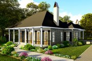 Ranch Style House Plan - 3 Beds 2 Baths 1927 Sq/Ft Plan #406-9655 Exterior - Front Elevation