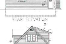 Traditional Exterior - Rear Elevation Plan #72-252