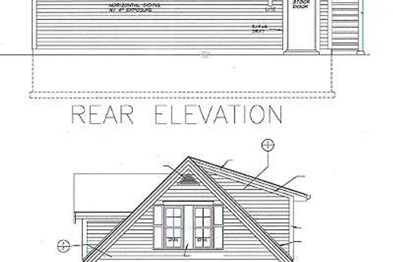 Traditional Exterior - Rear Elevation Plan #72-252 - Houseplans.com