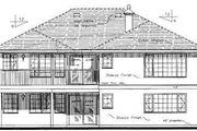 Traditional Style House Plan - 3 Beds 2 Baths 1676 Sq/Ft Plan #18-333 Exterior - Rear Elevation