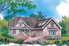 Craftsman Exterior - Front Elevation Plan #929-609