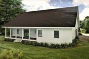 Traditional Style House Plan - 3 Beds 2 Baths 1611 Sq/Ft Plan #44-236 Exterior - Rear Elevation