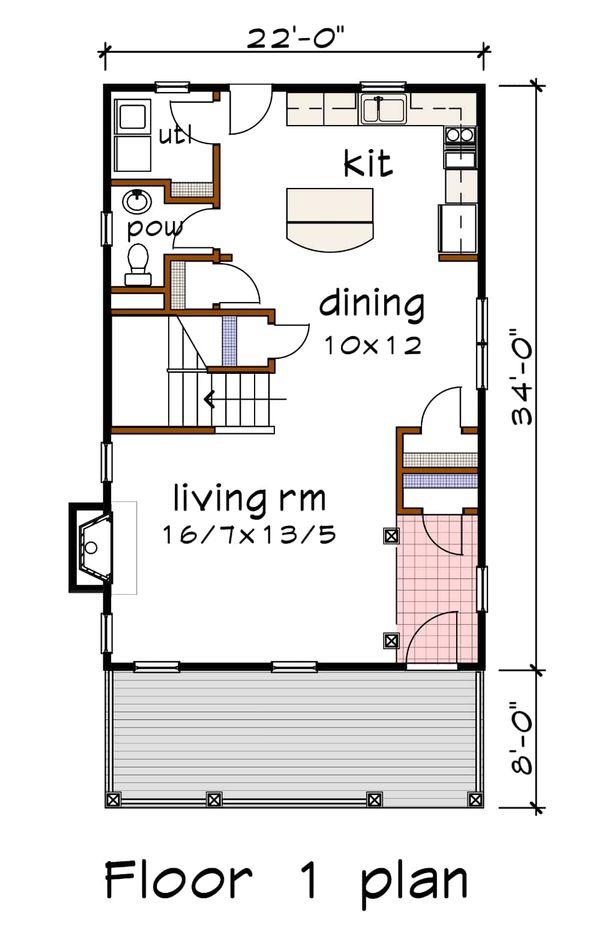 Dream House Plan - Southern Floor Plan - Main Floor Plan #79-198