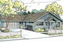 Ranch Exterior - Front Elevation Plan #124-720