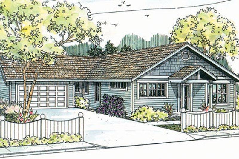 Ranch Exterior - Front Elevation Plan #124-720 - Houseplans.com