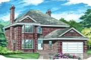 Traditional Style House Plan - 4 Beds 2.5 Baths 2568 Sq/Ft Plan #47-401 Exterior - Front Elevation