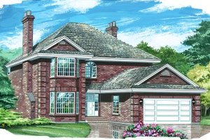 Traditional Exterior - Front Elevation Plan #47-401