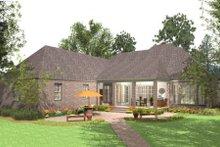 Dream House Plan - European Exterior - Rear Elevation Plan #406-9613