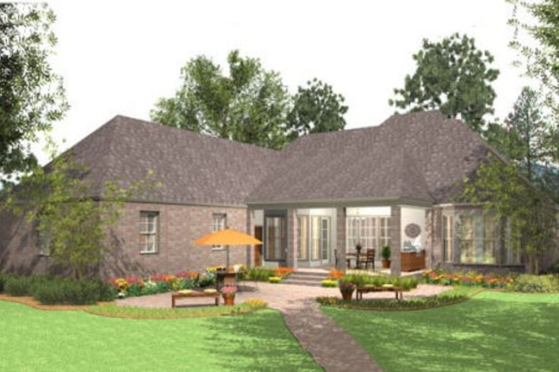 European Exterior - Rear Elevation Plan #406-9613 - Houseplans.com