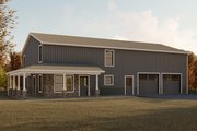 Modern Style House Plan - 4 Beds 2.5 Baths 2160 Sq/Ft Plan #1064-18 Exterior - Front Elevation