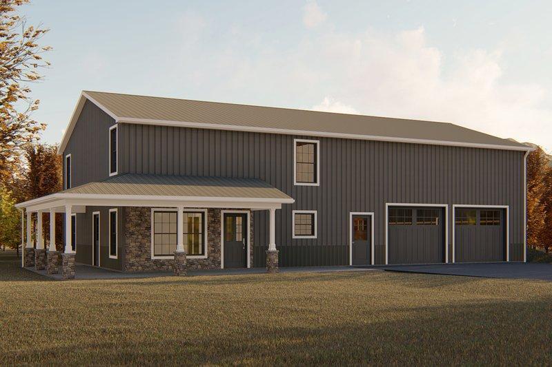 Architectural House Design - Modern Exterior - Front Elevation Plan #1064-18
