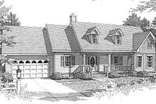 Dream House Plan - European Exterior - Front Elevation Plan #14-114