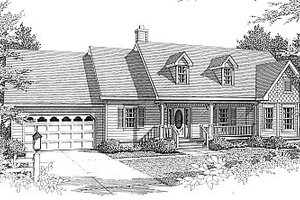 European Exterior - Front Elevation Plan #14-114