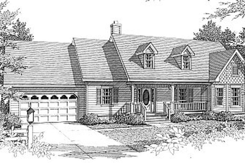 Home Plan - European Exterior - Front Elevation Plan #14-114
