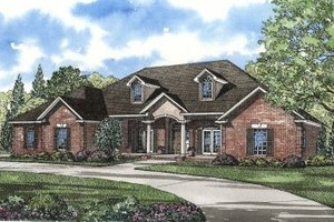 Southern Exterior - Front Elevation Plan #17-230
