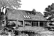 Traditional Style House Plan - 3 Beds 2.5 Baths 1997 Sq/Ft Plan #417-178 Exterior - Rear Elevation
