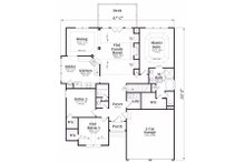 Traditional Floor Plan - Main Floor Plan Plan #419-153