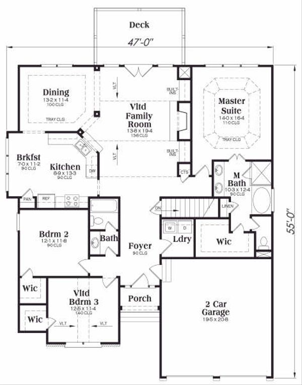 Traditional Floor Plan - Main Floor Plan Plan #419-153