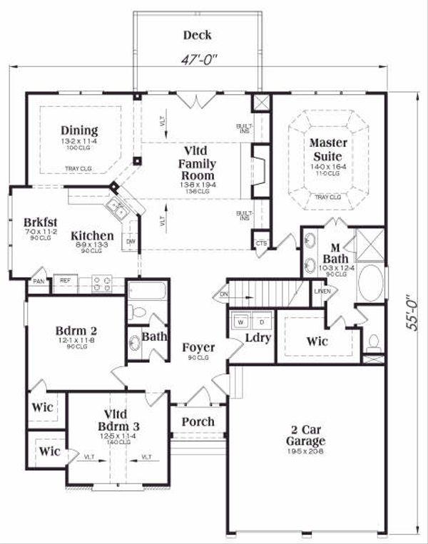 Home Plan - Traditional Floor Plan - Main Floor Plan #419-153
