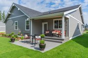 Craftsman Style House Plan - 3 Beds 2 Baths 1751 Sq/Ft Plan #1070-98 Exterior - Rear Elevation