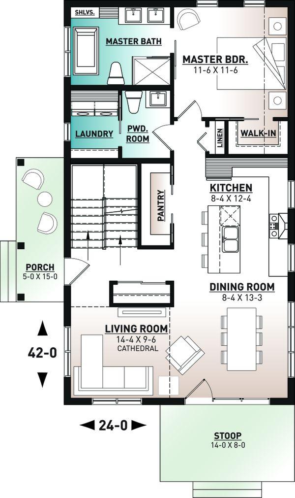 Cottage Floor Plan - Main Floor Plan #23-2736