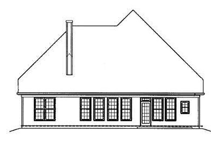 Colonial Exterior - Rear Elevation Plan #119-258 - Houseplans.com