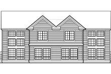 House Plan Design - Traditional Exterior - Rear Elevation Plan #48-154