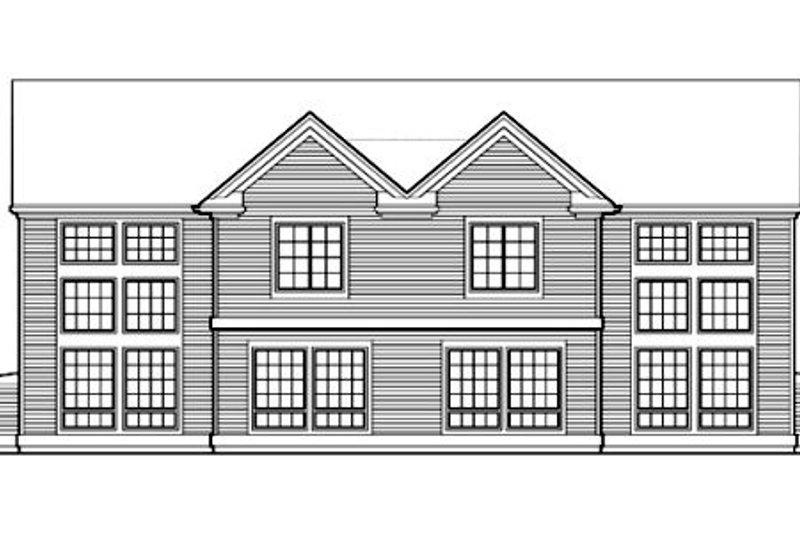 Traditional Exterior - Rear Elevation Plan #48-154 - Houseplans.com
