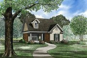 Traditional Style House Plan - 2 Beds 1 Baths 985 Sq/Ft Plan #17-125 Exterior - Front Elevation