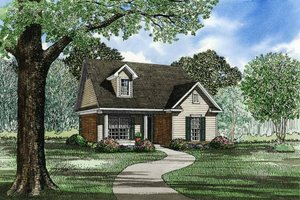 Traditional Exterior - Front Elevation Plan #17-125