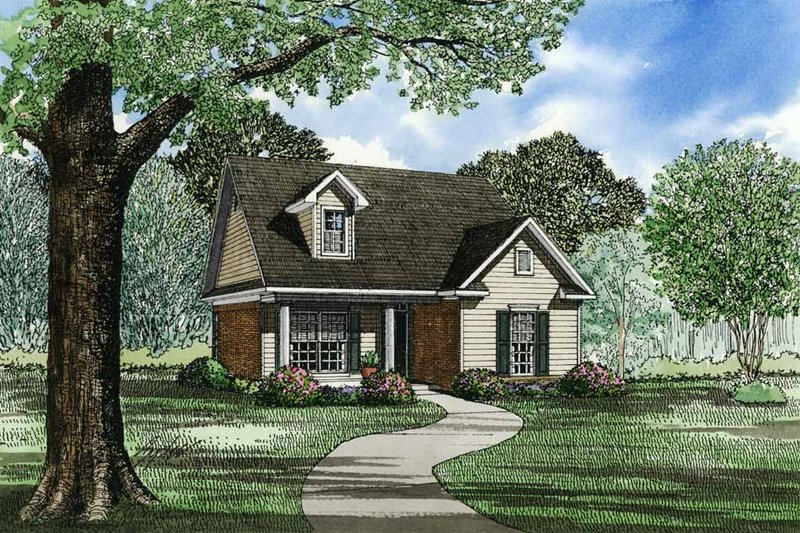 Architectural House Design - Traditional Exterior - Front Elevation Plan #17-125