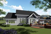 Ranch Style House Plan - 3 Beds 2.5 Baths 2495 Sq/Ft Plan #70-1425 Exterior - Rear Elevation