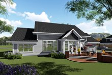 Home Plan - Ranch Exterior - Rear Elevation Plan #70-1425