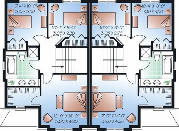 Traditional Floor Plan - Upper Floor Plan Plan #23-776