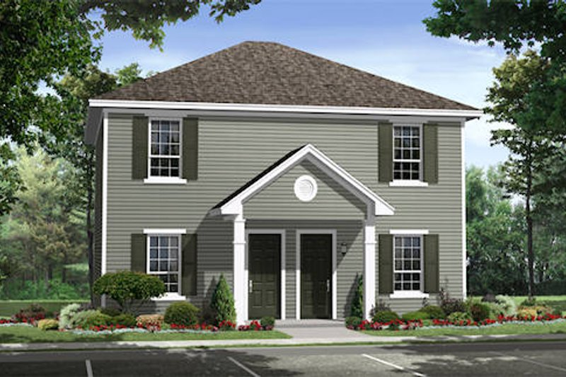 Traditional Exterior - Front Elevation Plan #21-296