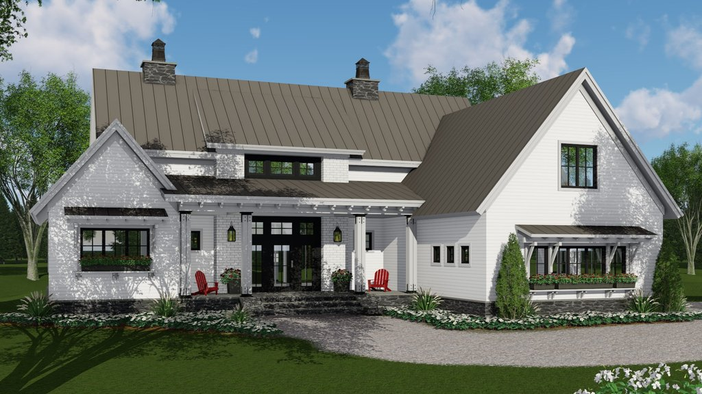 Farmhouse Style House Plan - 3 Beds 2.5 Baths 2125 Sq/Ft ...
