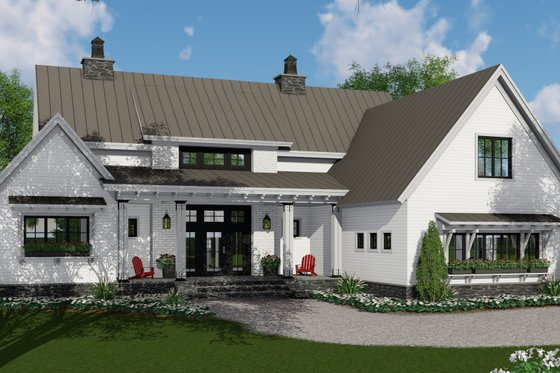 Farmhouse Exterior - Front Elevation Plan #51-1134